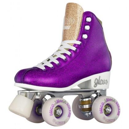 Crazy Disco Glam Purple / Gold Quad Roller Paten